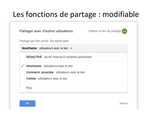 Modifiable pour des utilisateurs donnés Adresses mail