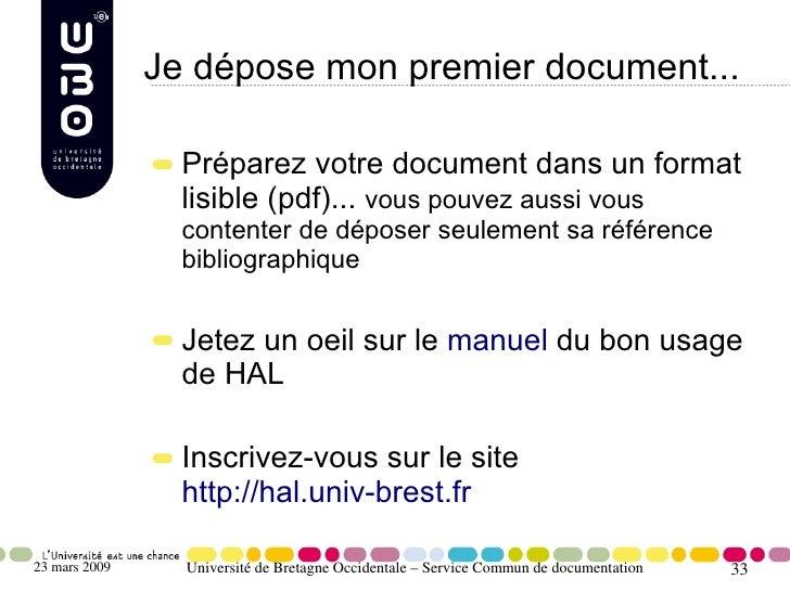 Je dépose mon premier document...                   Préparez votre document dans un format                  lisible (pdf)....
