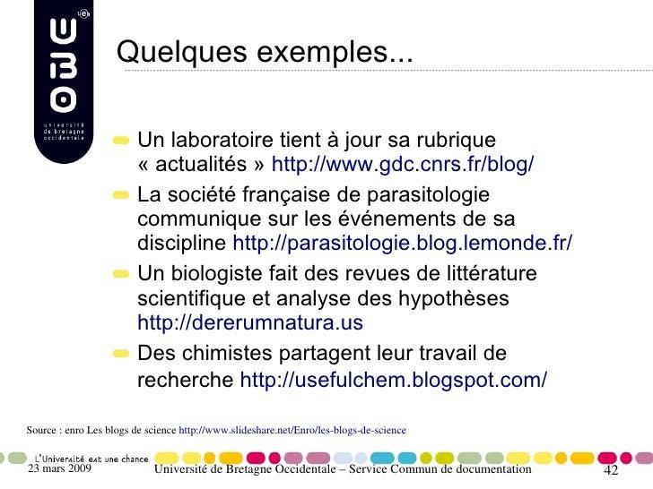 Quelques exemples...                           Un laboratoire tient à jour sa rubrique                          «actualit...