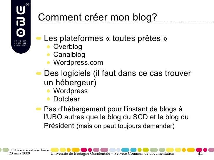 Comment créer mon blog?                  Les plateformes «toutes prêtes»                    Overblog                    ...