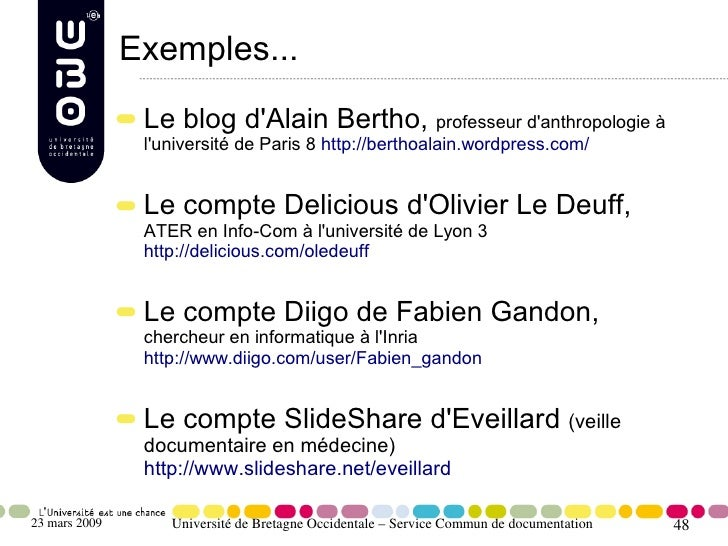Exemples...                 Le blog d'Alain Bertho, professeur d'anthropologie à                 l'université de Paris 8 h...