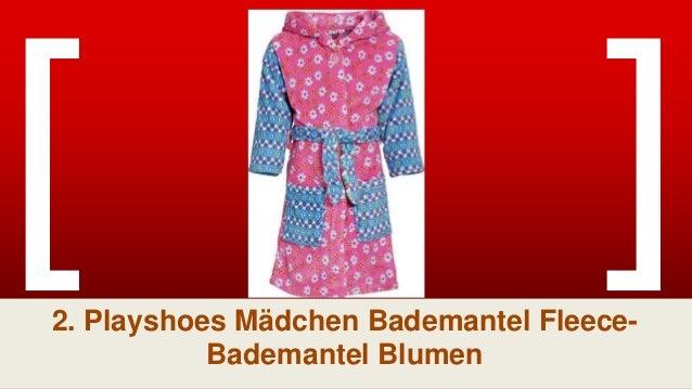 Playshoes M/ädchen Fleece Punkte Bademantel
