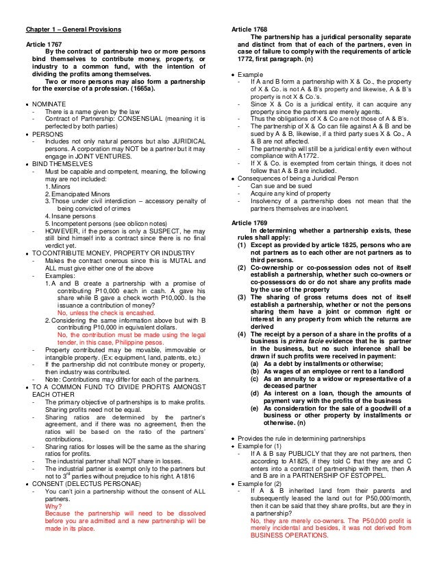 Chapter 1 – General Provisions                                    Article 1768                                            ...