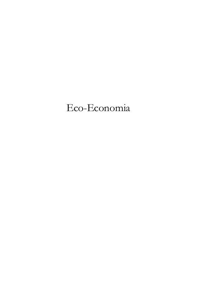 A Economia e a Terra i  Eco-Economia