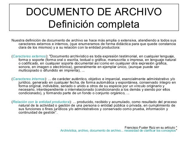 Qu es un documento de archivo for Origen y definicion de oficina