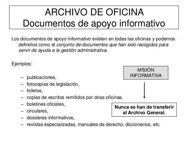 El archivo de oficina gesti n for Cuales son las caracteristicas de la oficina