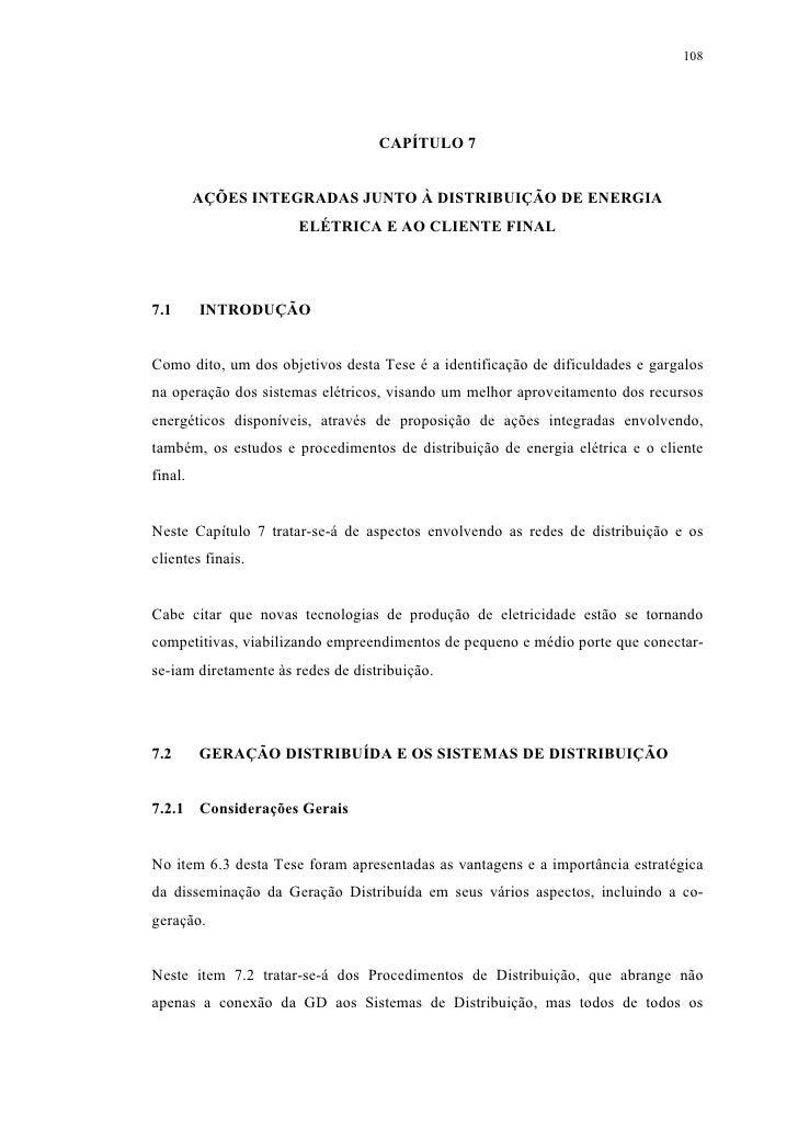 108                                        CAPÍTULO 7            AÇÕES INTEGRADAS JUNTO À DISTRIBUIÇÃO DE ENERGIA         ...