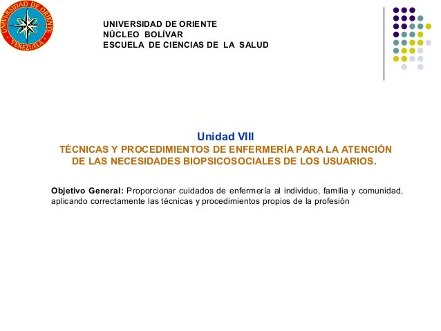 UNIVERSIDAD DE ORIENTE             NÚCLEO BOLÍVAR             ESCUELA DE CIENCIAS DE LA SALUD                             ...