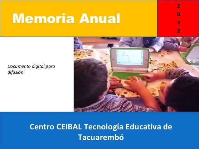 Memoria anual 2012 parte ii for Memoria anual