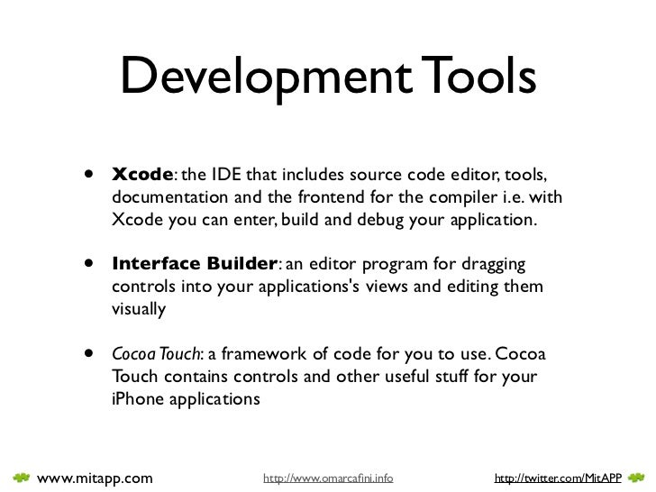 iPhone Development Tools Slide 2