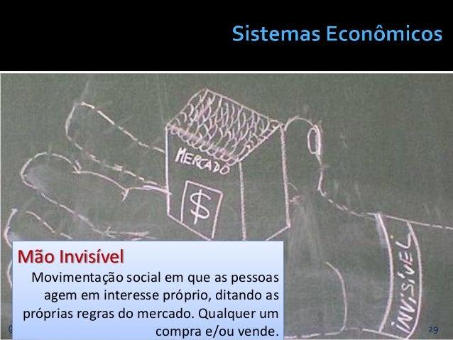 29@JanairaFranca Mão Invisível Movimentação social em que as pessoas agem em interesse próprio, ditando as próprias regras...