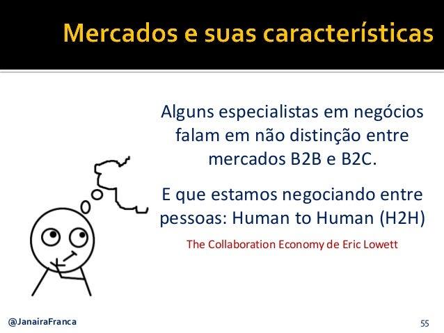 55@JanairaFranca Alguns especialistas em negócios falam em não distinção entre mercados B2B e B2C. E que estamos negociand...
