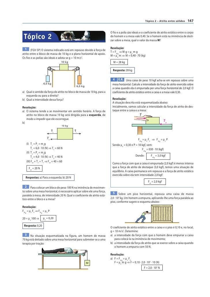 Tópico 2 – Atrito entre sólidos     147                                                                           O fio e ...