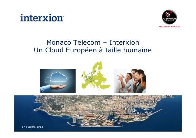 Partenariat monaco telecom   inter xion - 20121017 vf