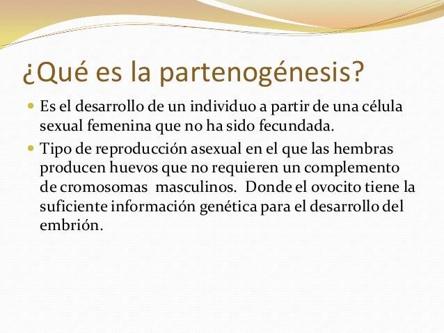 Reproduccion asexual partenogenesis ejemplos