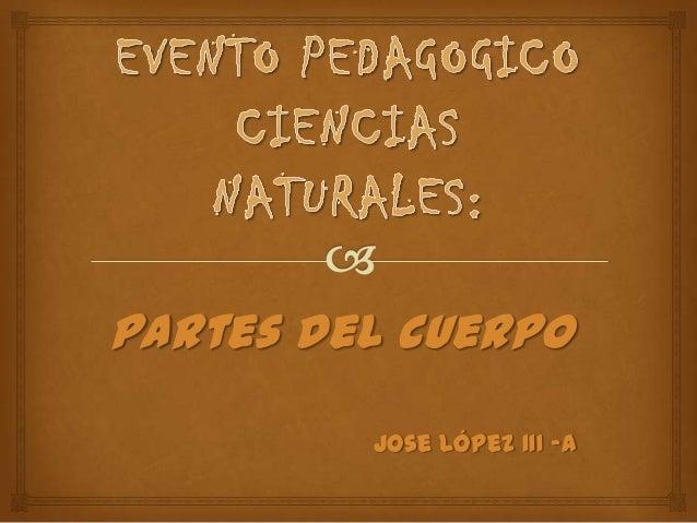 Partes del cuerpoJose López III -A