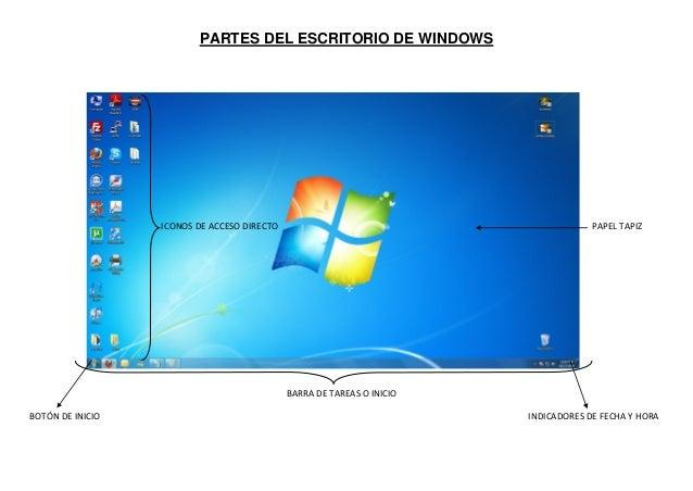 Partes del escritorio de windows - Iconos para escritorio windows ...