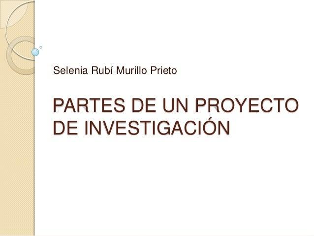 Partes de un proyecto de investigaci n for Partes de un vivero forestal
