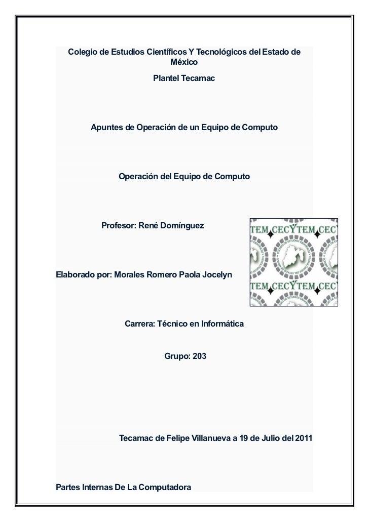 Colegio de Estudios Científicos Y Tecnológicos del Estado de                              México                        Pl...