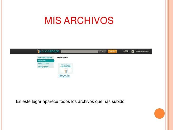 MIS ARCHIVOSEn este lugar aparece todos los archivos que has subido