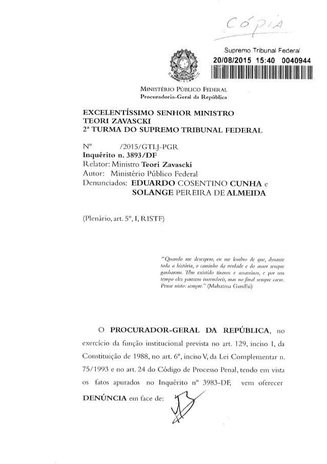 Supremo Tribuna¡ Federal 20/08/2015 15:40 0040944  ill/ ll IllllllllllIlllllllllllllllllllHlllllllllllllllllllll  MINISTÉR...