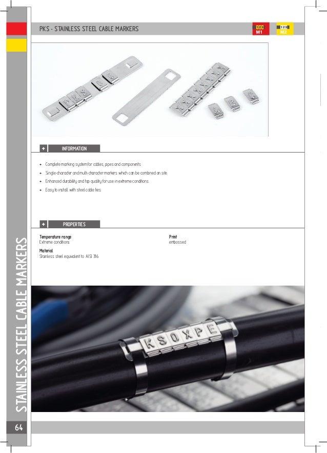 100pcs CSA 0.5-0.75mm² Chevron Black On White Letters Cable Marker Packs