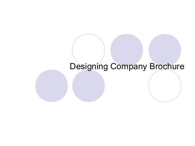 Designing Company Brochure