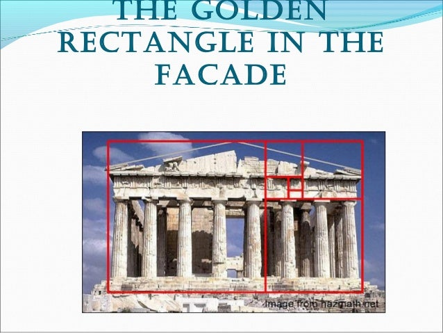 The golden recTangle in The facade; 18. how golden raTio applies on columns  and frieze ...