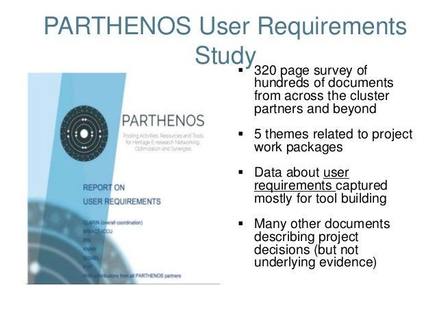 PARTHENOS Training - User Engagement  Slide 3