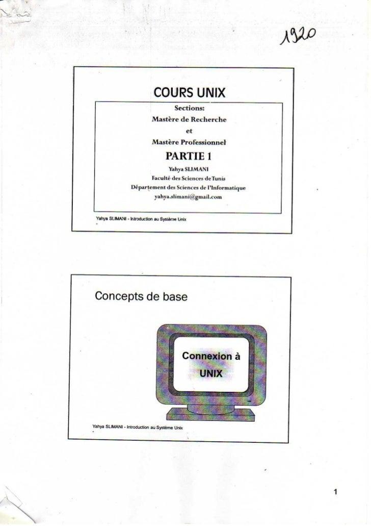 Parti 1 concepts de base