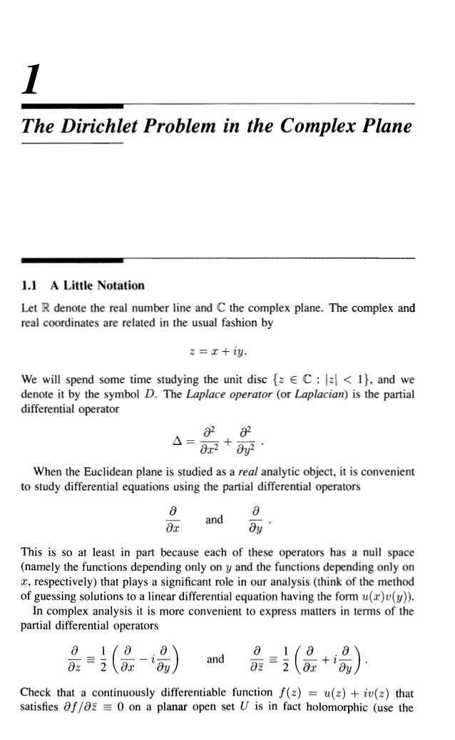 Partial differential equations and complex analysis
