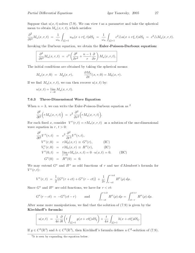 Partial differential equations, graduate level problems and solutions…