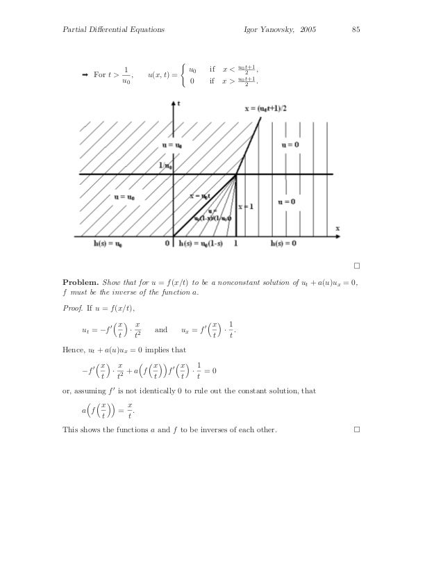 Partial differential equations, graduate level problems