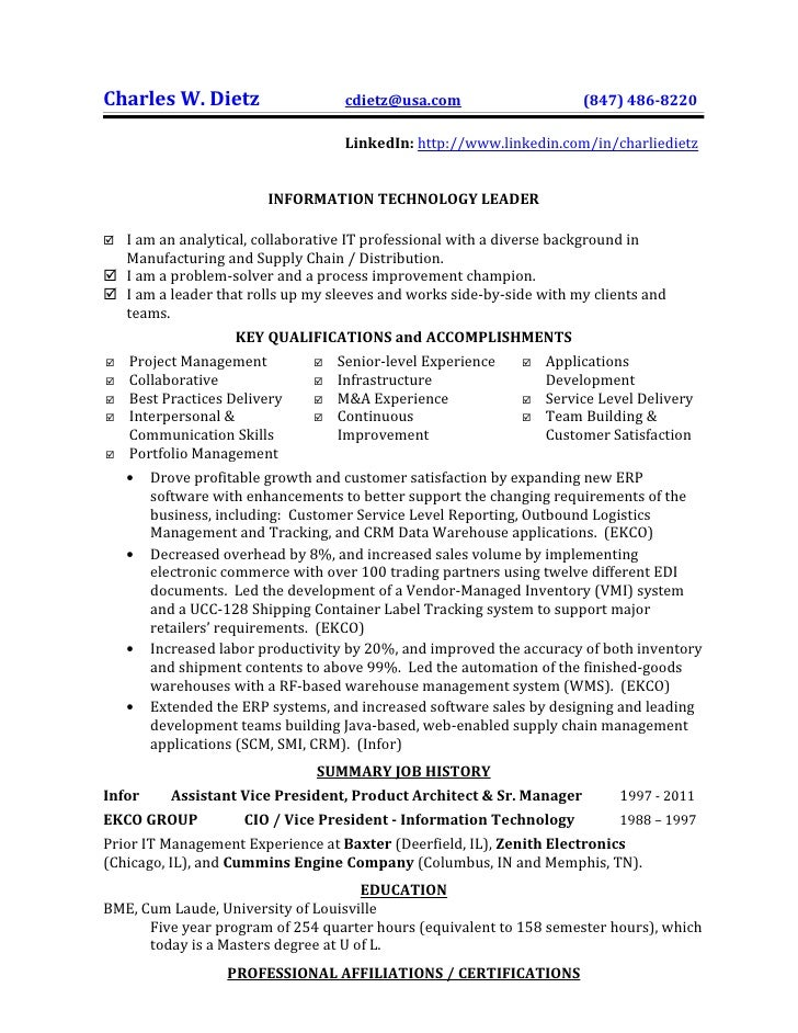 partial sample resume charles w dietz cdietzusacom