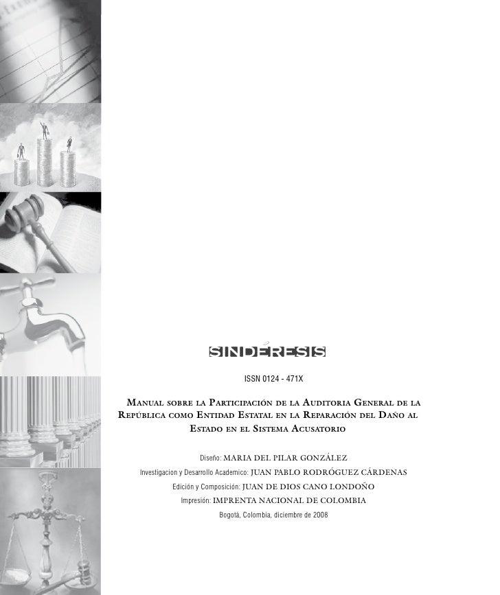 Manual sobre la ParticiPación de la auditoría General de la rePública coMo entidad     estatal en la reParación del daño a...