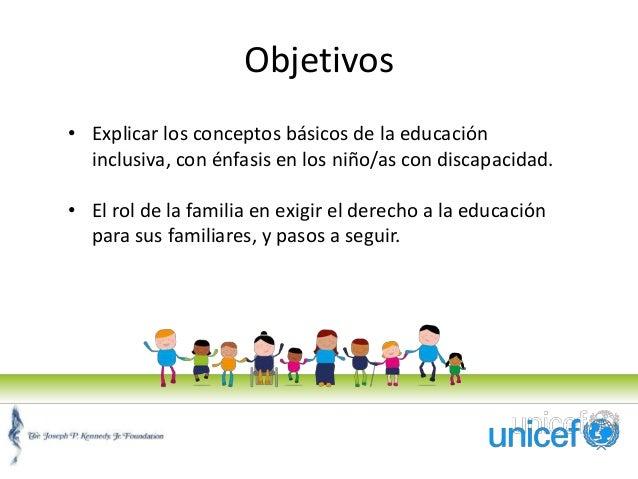 Participaci n de la familia en la educaci n inclusiva for Concepto de la familia para ninos