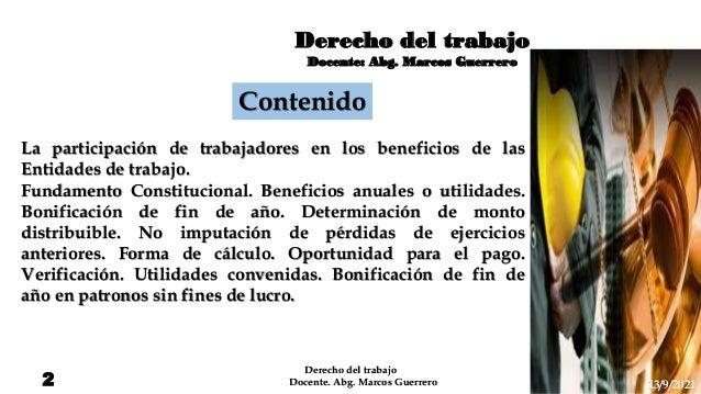 Participación de trabajadores en los beneficios de las entidades de trabajo Slide 2