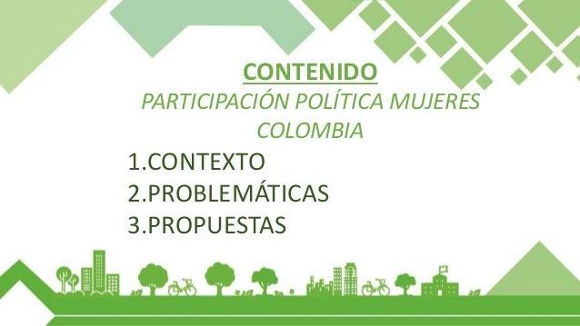 1. CONTEXTO PARTICIPACIÓN POLITICA DE LA MUJER