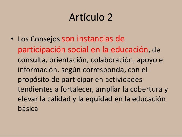 Participación social Acuerdo 716 Slide 2