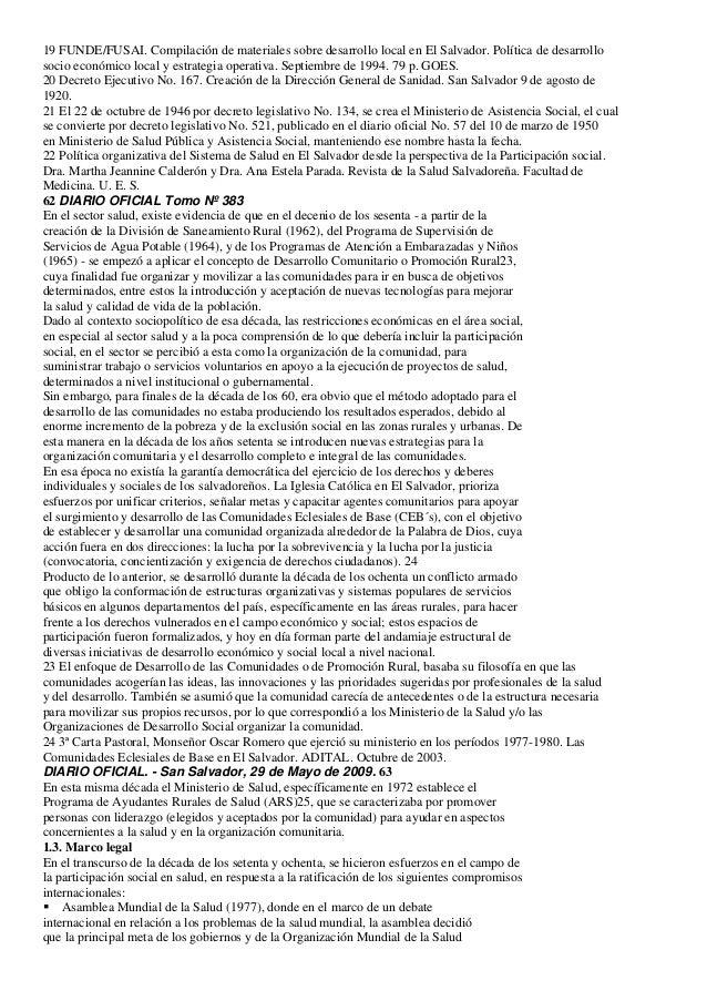 19 FUNDE/FUSAI. Compilación de materiales sobre desarrollo local en El Salvador. Política de desarrollosocio económico loc...