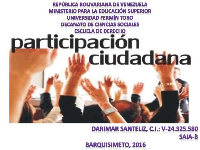 El artículo 70 de la Constitución de la República Bolivariana de Venezuela establece como mecanismos de participación La ...