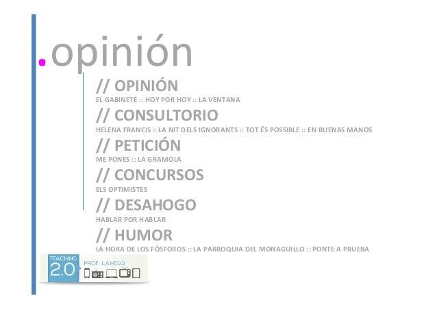 //  OPINIÓN   EL  GABINETE  ::  HOY  POR  HOY  ::  LA  VENTANA   //  CONSULTORIO   HELENA  FRA...