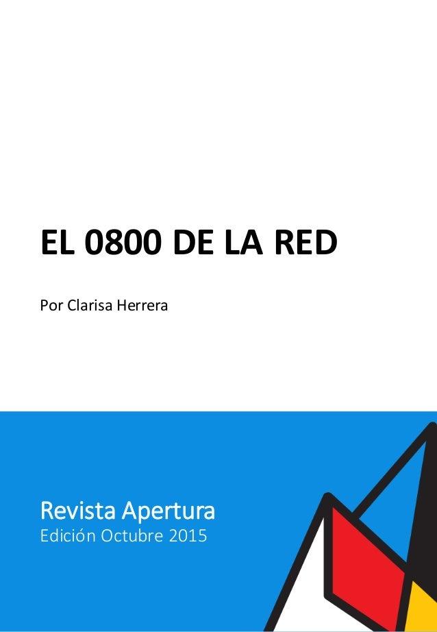 EL0800DELARED PorClarisaHerrera RevistaApertura EdiciónOctubre2015