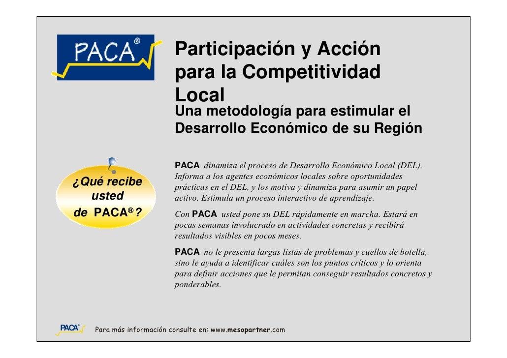 Participación y Acción                             para la Competitividad                             Local               ...