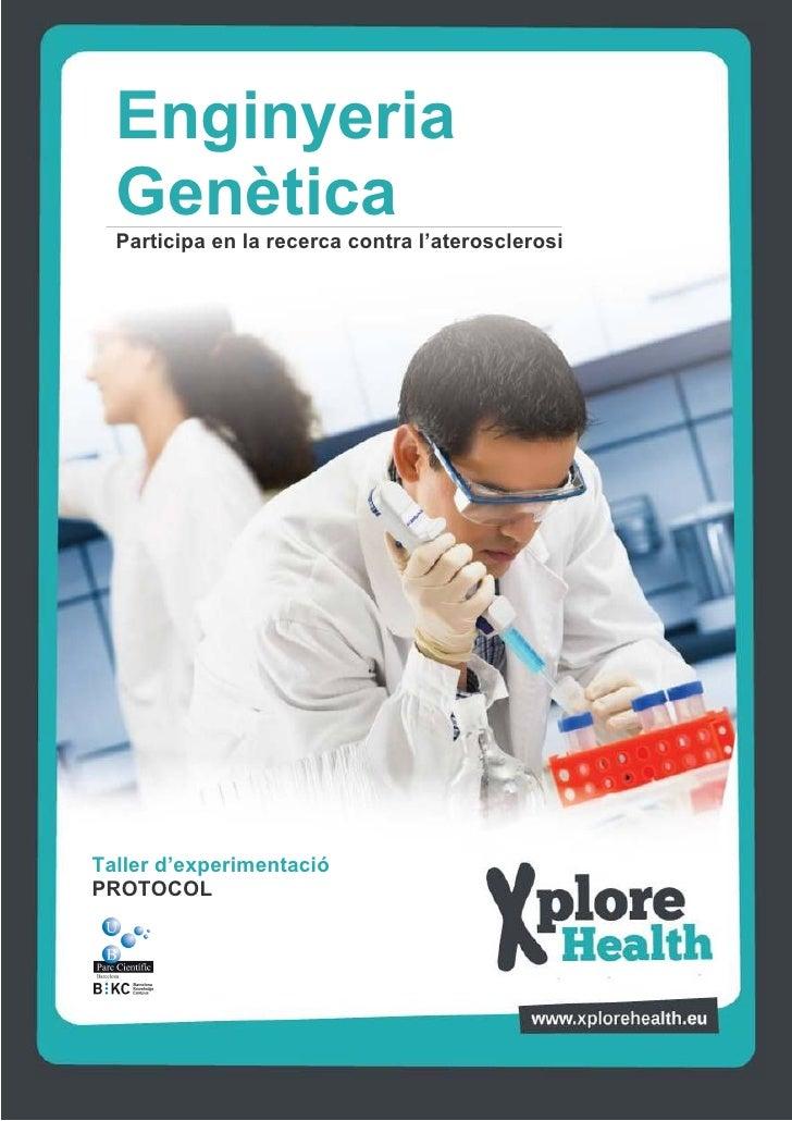 Enginyeria  Genètica  Participa en la recerca contra l'aterosclerosiTaller d'experimentacióMacròfagPROTOCOL