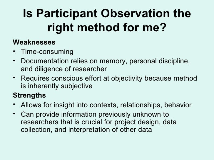 Observation Research Project