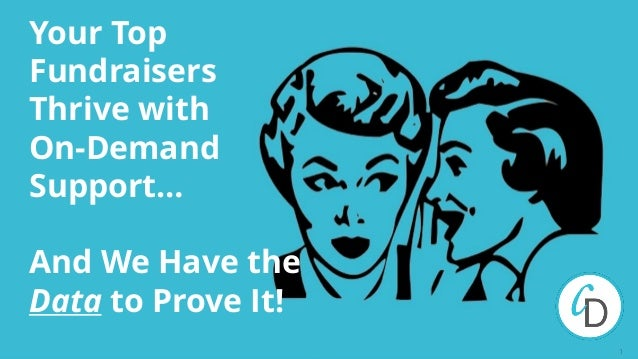 1 Your Top Fundraisers Thrive with On-Demand Support… And We Have the Data to Prove It!