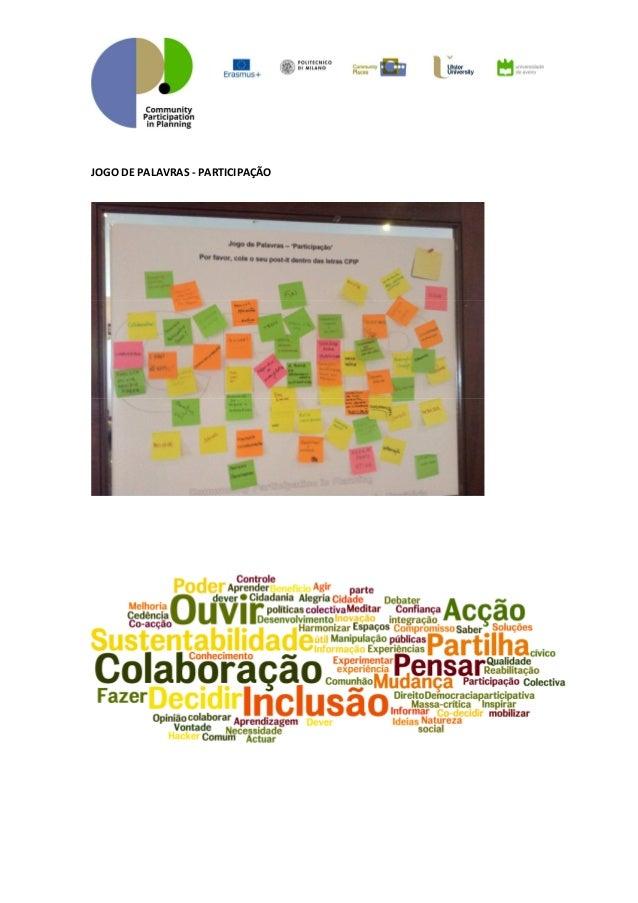 Participação das comunidades no planeamento sessão de lançamento Slide 3