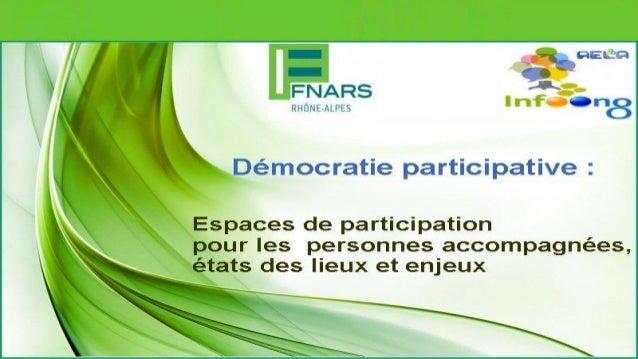 Démocratie participative © 2014 FNARS AELA ONGD