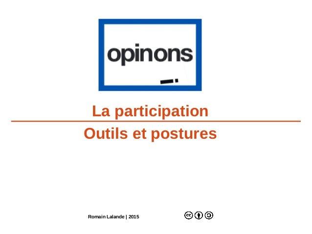 La participation Outils et postures Romain Lalande | 2015